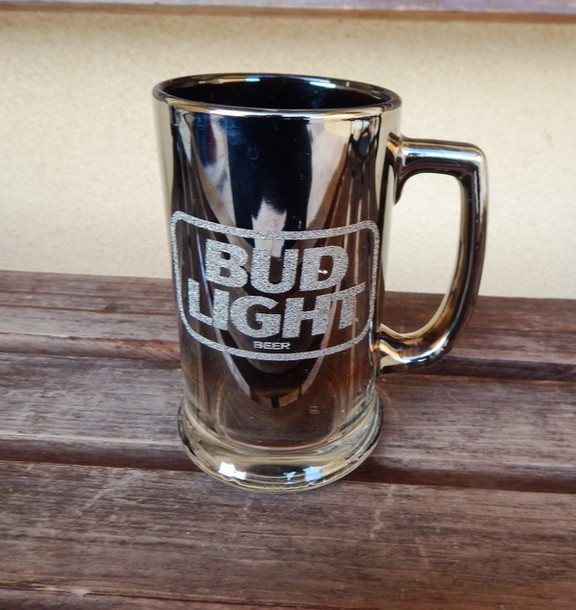 jewels budlight mug bug light tall frosted mug vintage vintage buglight mug frosted glass beer mug frosted glass mug