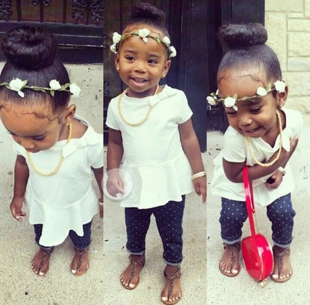 ebd0917352 blouse girl girly flowers floral headband flower crown bun hair bun bows bow  t shirt peplum. 137. want!15. KidsFashion ...