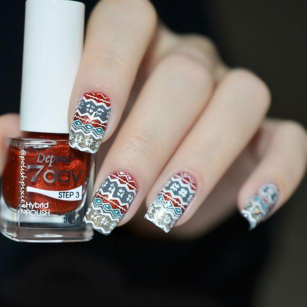 nail polish, holiday nail art, christmas, holiday season, holidays ...
