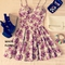 Duke floral bustier dress
