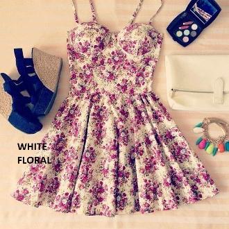 Duke floral bustier dress