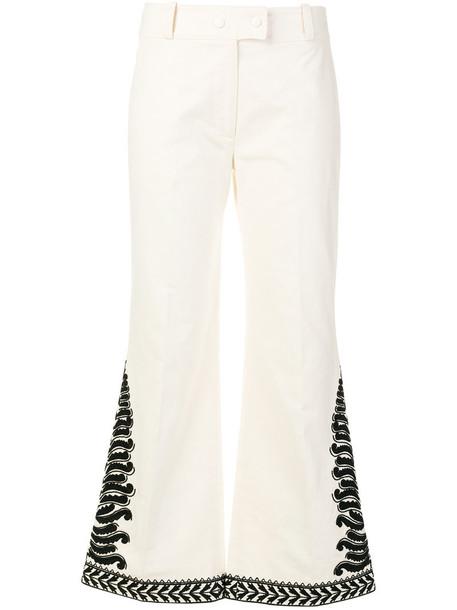 Tory Burch women white cotton pants