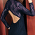 Lace Backless Long Sleeves Purple Dress | Pariscoming
