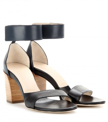 mytheresa.com -  Gala leather sandals  - Mid heel - Sandals - Shoes - Luxury Fashion for Women / Designer clothing, shoes, bags