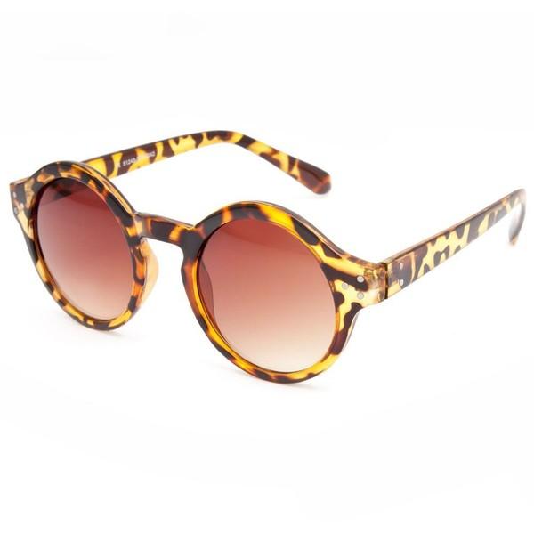 Full tilt round keyhole sunglasses