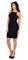Black square front jersey midi dress