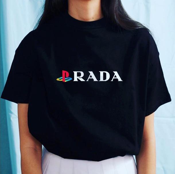 ecda9a37a68214 top, prada, play station, playstation, sony playstation, streetstyle ...