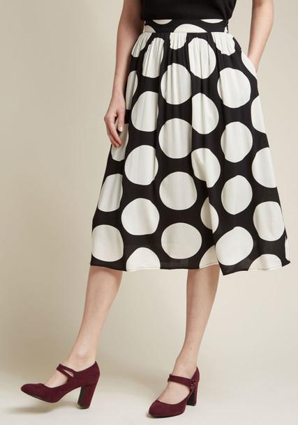 skirt midi skirt high new midi number white black