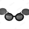 Sunglasses glasses shades lady oversized mouse thick flip up paparazzi | ebay