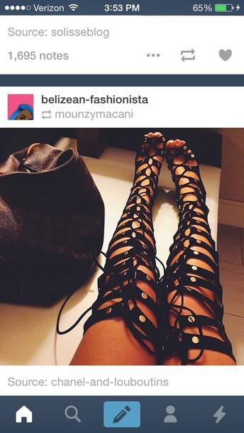 9e9c98e1a92ea shoes heels style strappy heels strappy black heels strappy sandals strappy  straps black heels black shoes