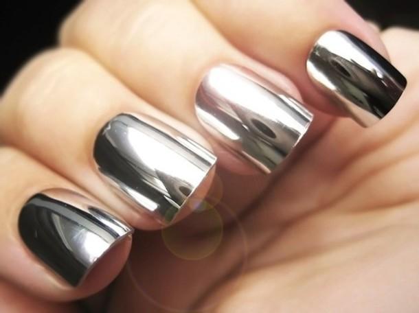 nail polish foil silver polish stickers essie metallic nails