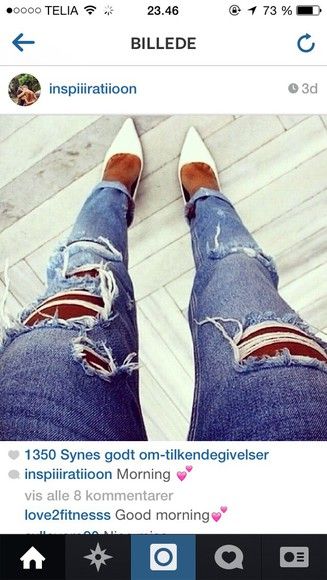 fashion jeans denim ripped high heels style ripped jeans where did u get that