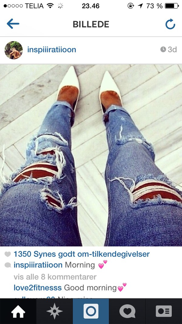 jeans ripped heels style ripped jeans fashion where did u get that denim