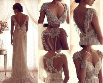 dress white dress wedding dress lace dress lace maxi dress long dress open backed dress