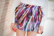 skirt,lights,stripes,colorful,peplum