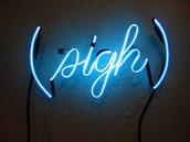 home accessory,tumblr,neon,sign,blue,bright,sigh