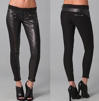jeans leather pants black cute