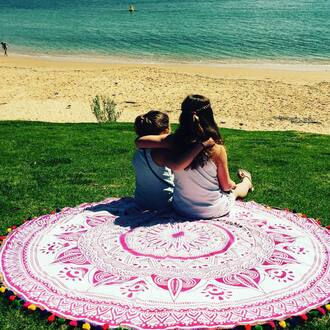 home accessory tapestry boho dress boho beach beach dress beach house beach towel hippie hippie dress bohemian bohemian dress mandala round mandala