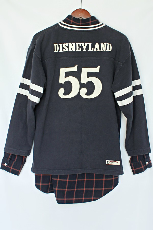 just vu ralph lauren disney disney disneyland jersey hockey jersey clothes sweater hipster blogger vintage plaid shirt menswear mens shirt menswear back to school fall outfits geek crewneck