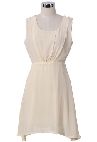 dress chiffon party dress ivory open back chic sleeveless blogger