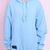 Hoodie Open Cut Light Blue Woman | Desertwaste