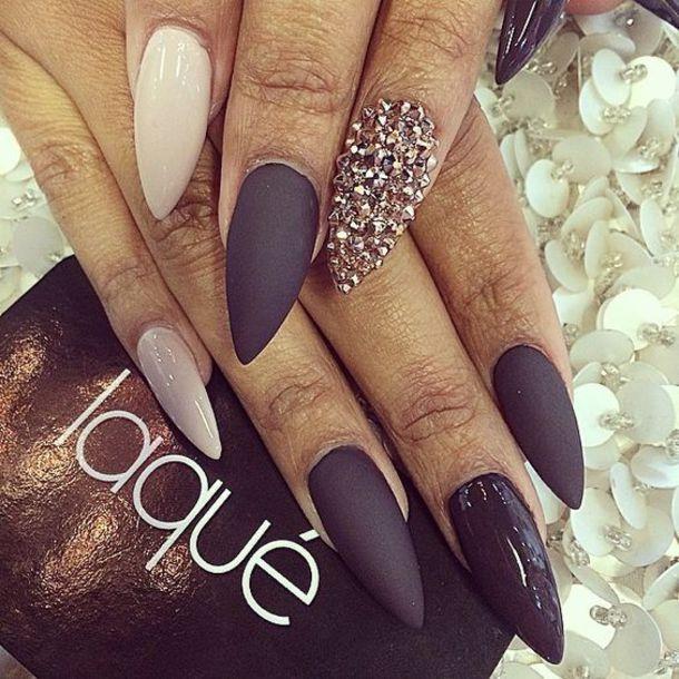 nail polish nails matte nail polish matte black champagne nails diamonds laque beige nails tan fashion