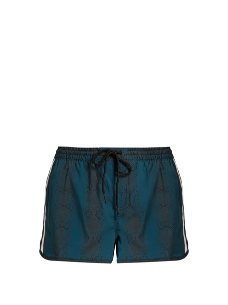 The Upside shorts sea python print green