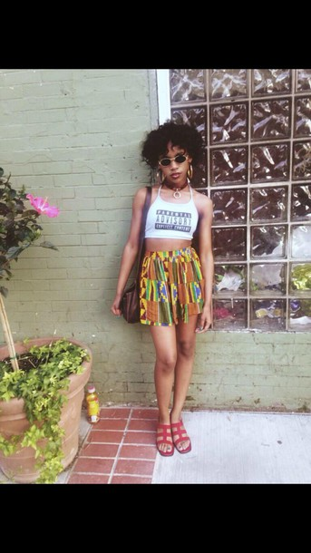 shorts High waisted shorts high waisted african print african shorts yellow summer