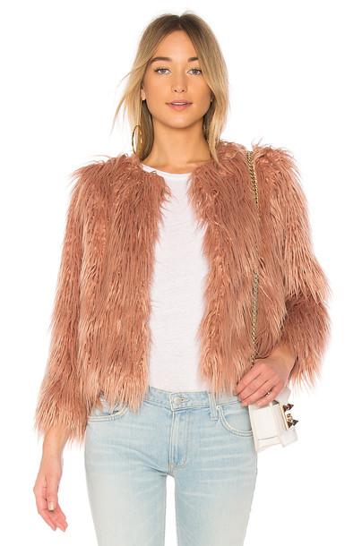 1. STATE jacket faux fur jacket fur jacket fur faux fur rose