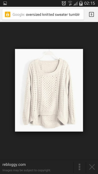 sweater cream knitwear oversized sweater