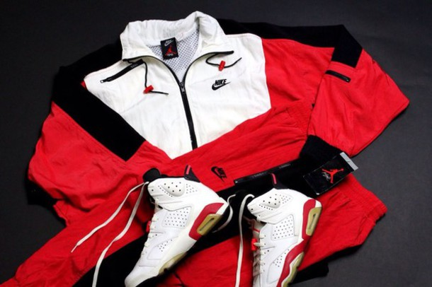 05d4073452a0 pants red black and white nike jacket red white and black nike pants red  and white