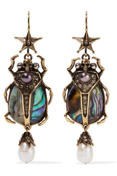 Alexander Mcqueen earrings gold jewels