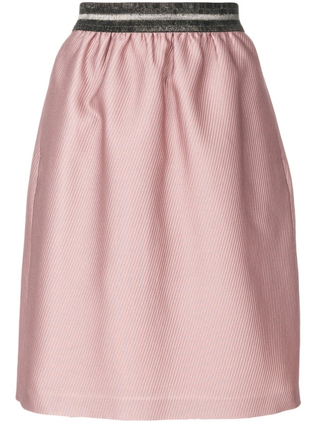 Luisa Cerano tulip skirt - Pink & Purple