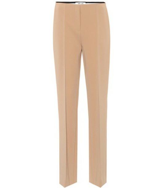 Diane von Furstenberg Pleat Front trousers in brown