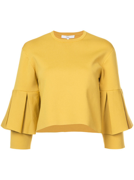 Tibi blouse women yellow orange top