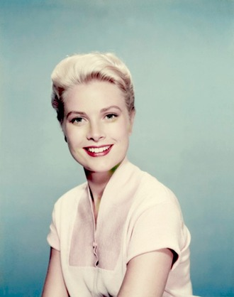 make-up grace kelly actress hairstyles red lipstick blonde hair retro