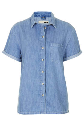 MOTO Denim Boxy Shirt- Topshop