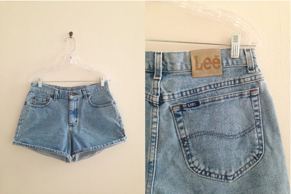 SALE SIZE medium LEE high waist cut off light denim by loucella