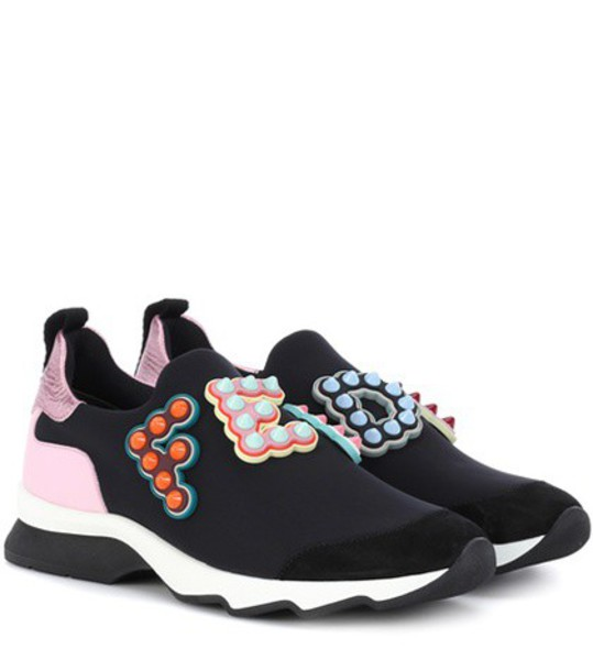Fendi studded sneakers black shoes