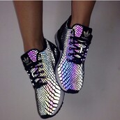 shoes,adidas shoes,adidas,sneakers,purple,metallic,black,silver,pattern,multicolor,brand,colorful,laces,adidas trainers,adidas neon,adidas black,xeno,rainbow,cute,glow in the dark,holographic shoes,holographic,snake print,kicks,love shoes,black shoes,trainers,silver shoes,shiny,athletic,workout,dark,reflective,xeno adidas,fashion,fish scales,addias shoes,adidas holigrams,metallic shoes,colorful shoes,running shoes,sports shoes,sportswear,adidas zx flux,adidas flux xeno,blue,nike,nike shoes,adias,tumblr,tumblr shoes,adidas originals,snake shoes,causal shoes,low top sneakers,zx flux xeno,holographic adidas shoes,randbowfish,fish scale looking reflective,workout shoes,sunglasses,adidas silver sneakers,glow in the dark shoes,love,amazing,cool,adidas reptile,hologram sneakers,size 5.5