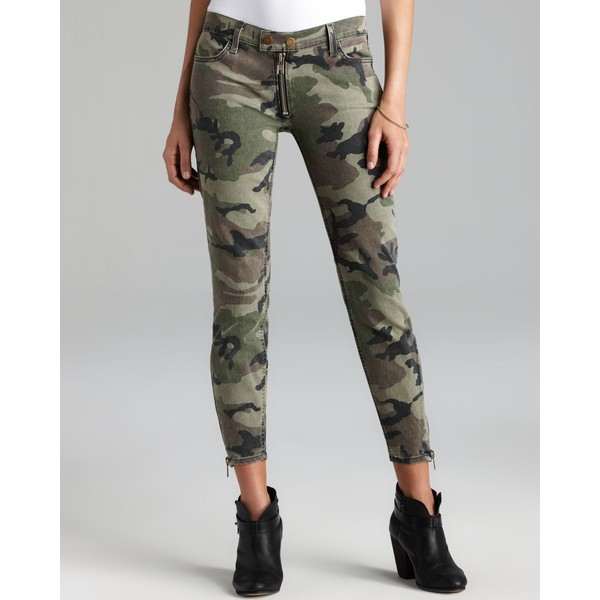 TEXTILE Elizabeth and James Jeans - Cooper Skinny in Olive Camo - Polyvore