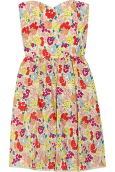 Thread Social Strapless floral-print dress - 55% Off Now at THE OUTNET