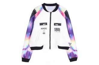jacket floral print jacket galaxy top bomber jacket print jacket