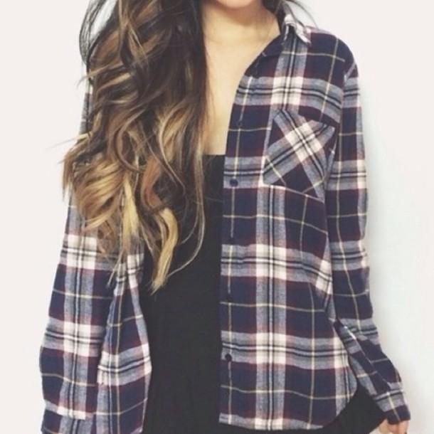 shirt flannel shirt flannel cute plaid button up