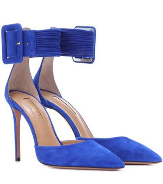 Aquazzura suede pumps pumps suede blue shoes