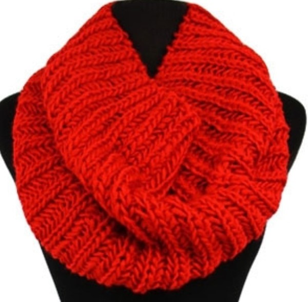 scarf infinity scar knit thick