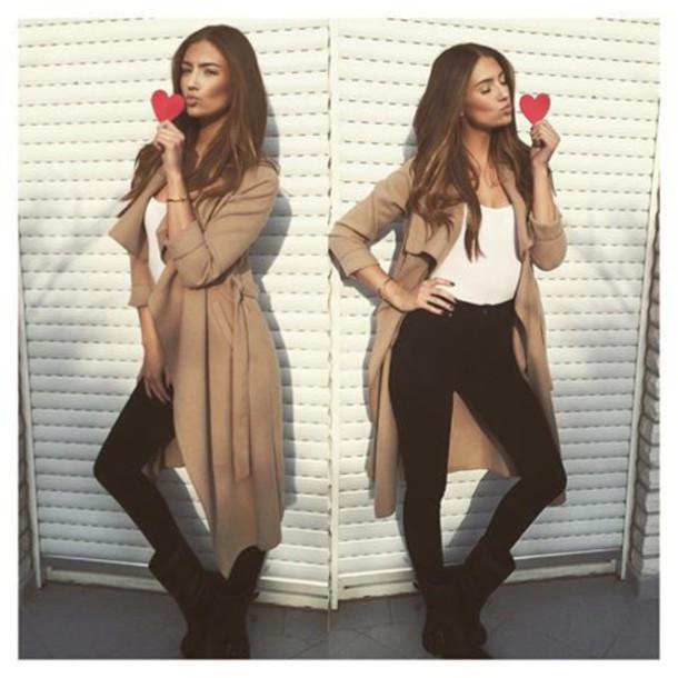coat jacket beige coat