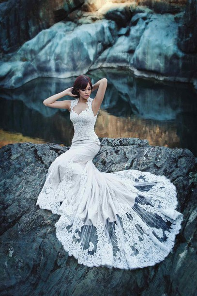dress white dress white mermaid prom dress mermaid mermaid wedding dress mermaid prom dress white prom dress lace lace dress white lace dress