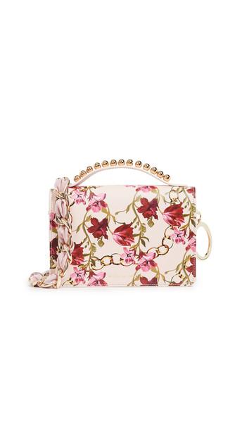 satchel print pink bag
