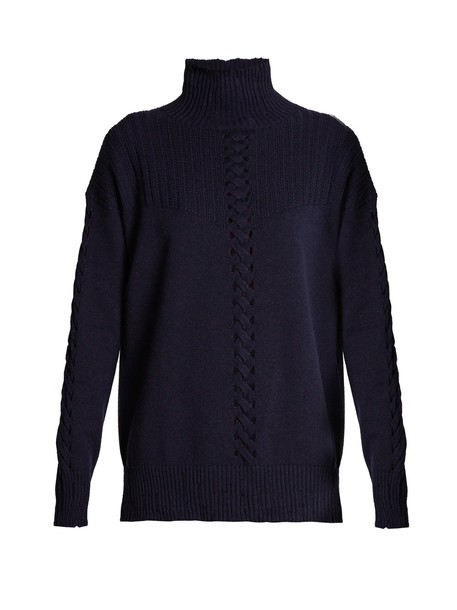 Barrie sweater high navy